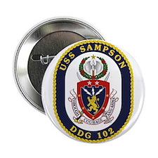"""Uss Sampson Ddg-102 2.25"""" Button"""