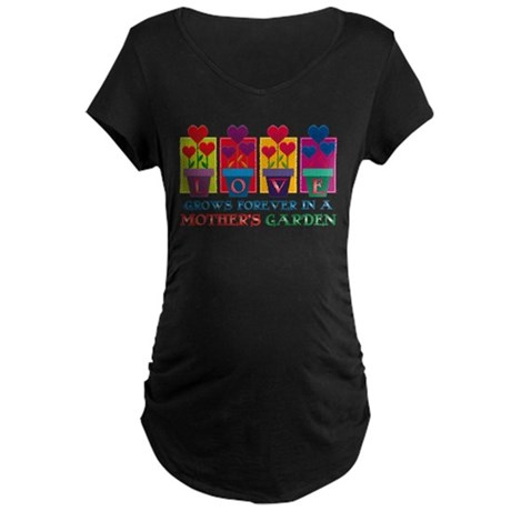 Mother's Garden Maternity Dark T-Shirt
