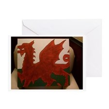 Flying Dragon Painting Greeting Card