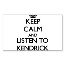 Keep Calm and Listen to Kendrick Decal
