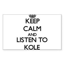 Keep Calm and Listen to Kole Decal