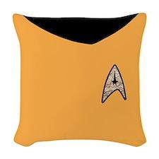 Star Trek Tos Gold Uniform Woven Throw Pillow