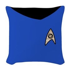 Star Trek Tos Blue Uniform Woven Throw Pillow