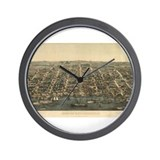 Antique Map of Alexandria, VA Wall Clock