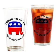 Proud Ohio Republican Drinking Glass