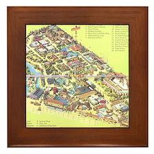 Framed Japanese Village and Deer Park Tile