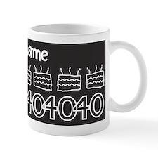 Personalized Black 40th Birthday Mug
