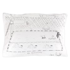 Seven Swans a Swimming Pillow Case