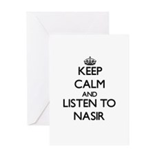 Keep Calm and Listen to Nasir Greeting Cards