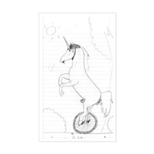 Unicycling Unicorn Decal