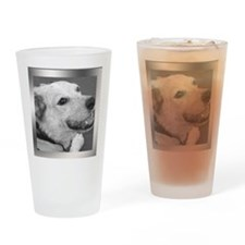 Your Photo in a Silver Frame Drinking Glass