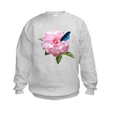 Pink Rose and butterfly Sweatshirt