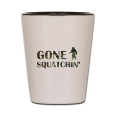 Gone Squatchin Camouflage Shot Glass