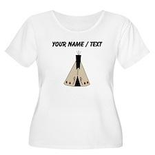 Custom Native American Teepee Plus Size T-Shirt