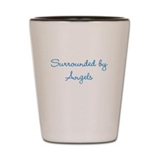 Surrounded by Angels Shot Glass