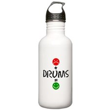 Plus Drums Equals Happy Water Bottle