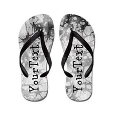 Customize Abstract Grunge Flip Flops