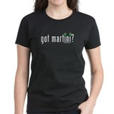 """Got Martini?"" Cocktail Drinking Women's Black Tee"
