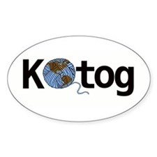 Knit the world together Bumper Stickers