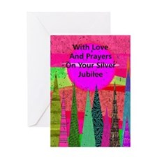 Silver Jubilee1 Greeting Cards