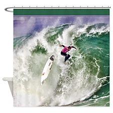 Surfing Wipeout shower Shower Curtain