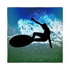 Surfing on Blue and Green Ocean Foam queen Queen D