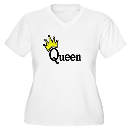 Queen Women's Plus Size V-Neck T-Shirt