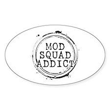 Mod Squad Addict Oval Sticker (50 pack)