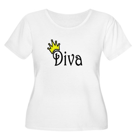 Diva Women's Plus Size Scoop Neck T-Shirt