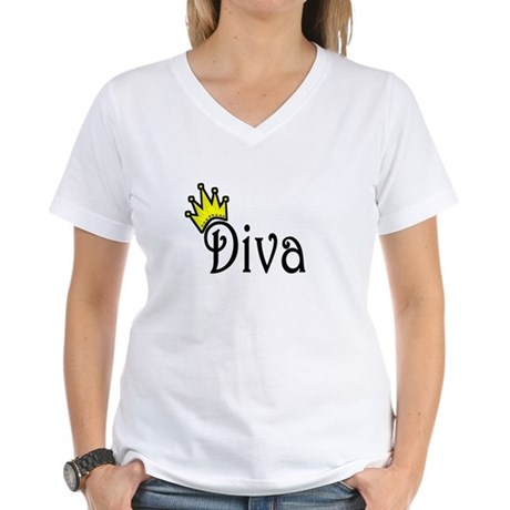 Diva Women's V-Neck T-Shirt