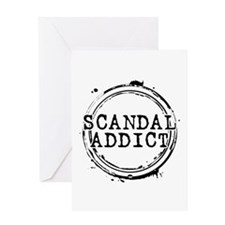 Scandal Addict Greeting Card