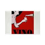 Vino Vintage Lady Magnets