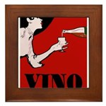 Vino Vintage Lady Framed Tile