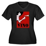 Vino Vintage Lady Plus Size T-Shirt
