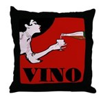Vino Vintage Lady Throw Pillow