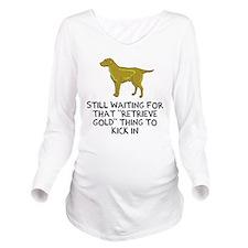 golden retriever Long Sleeve Maternity T-Shirt
