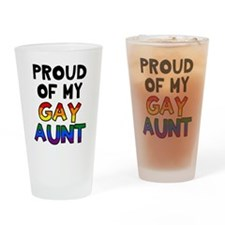 Gay Aunt Drinking Glass