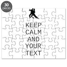 Keep Calm Dance Couple - Customize Puzzle