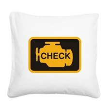 Check Engine Light Square Canvas Pillow