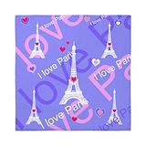 Girly i love paris Queen Duvet Covers