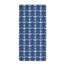 Cute Navy blue Beach Towel