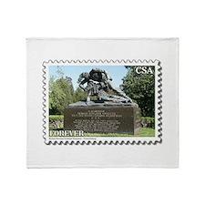 Kirkland Monument - Fredericksburg Throw Blanket