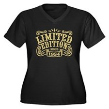 Limited Edit Women's Plus Size V-Neck Dark T-Shirt