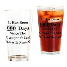 Sarcasm Safety Drinking Glass