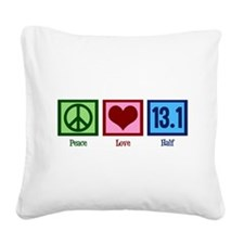 Peace Love 13.1 Square Canvas Pillow