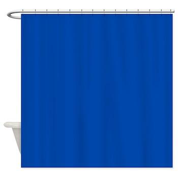 Solid Cobalt Blue Shower Curtain