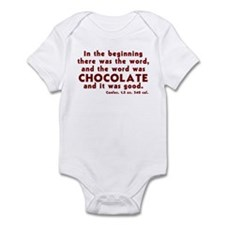 Chocolate Word Infant Bodysuit