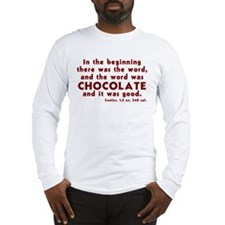 Chocolate Word Long Sleeve T-Shirt