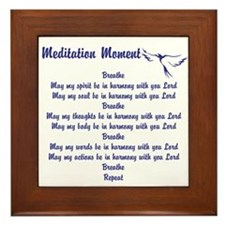 Meditation Moment In Harmony With You Framed Tile