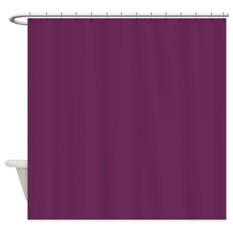 Solid Plum Shower Curtain
